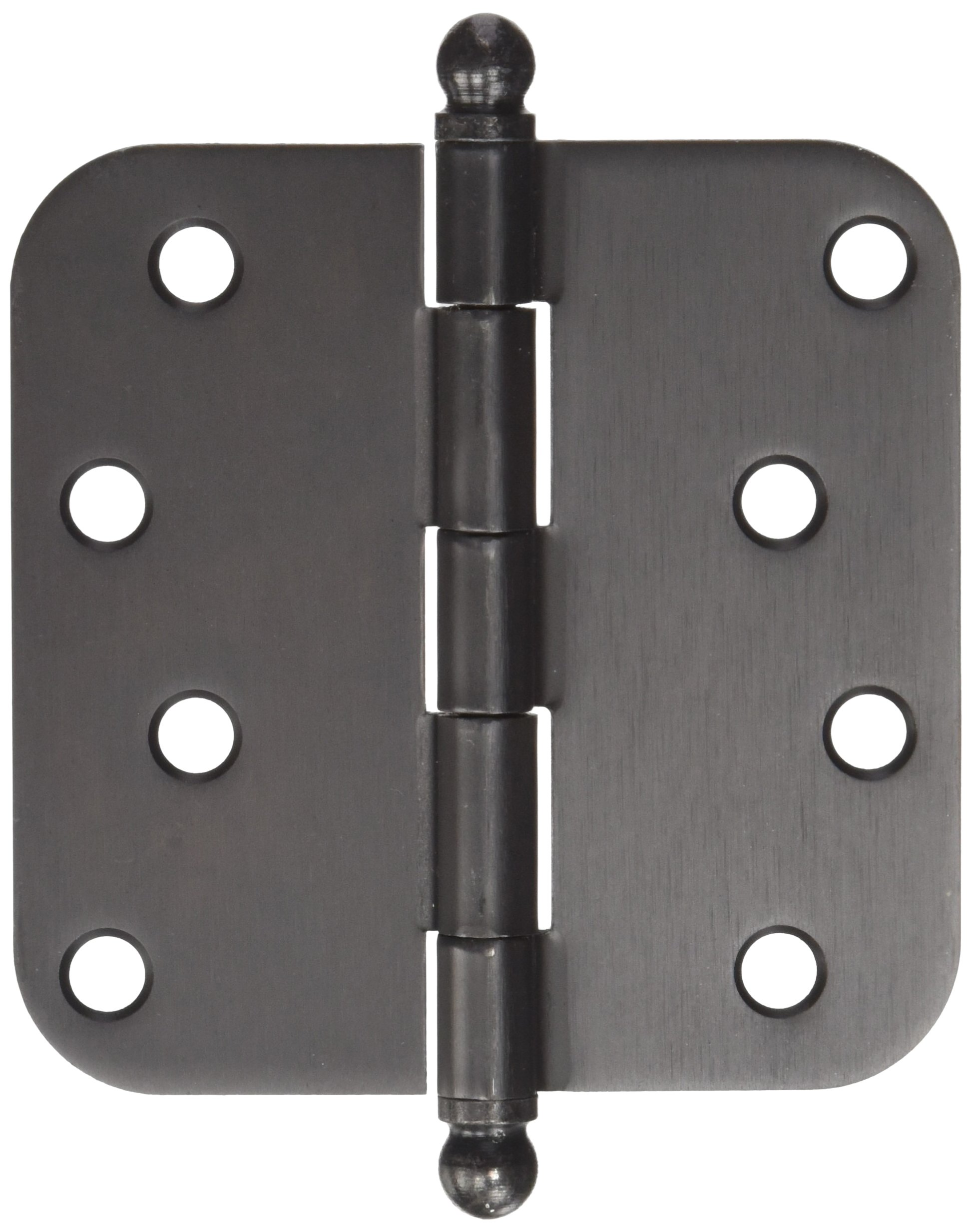 Deltana S44R510B-BT Steel 4-Inch x 4-Inch x 5/8-Inch Radius Hinge with Ball Tips by Deltana