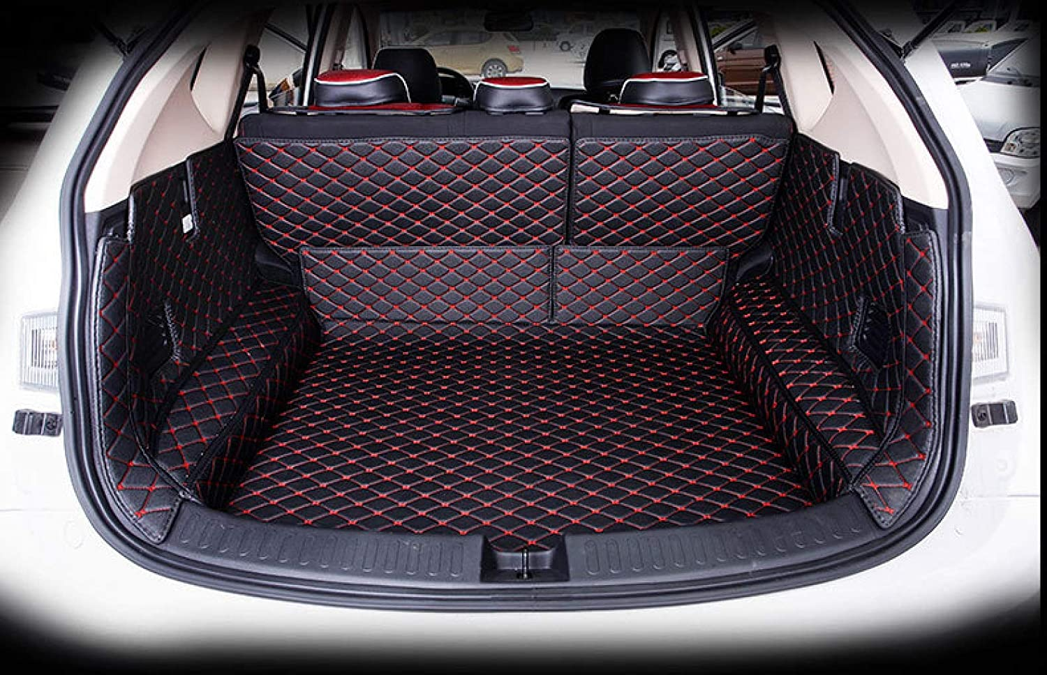 Bonus-Mats Custom Fit All-Weather Full Coverage Waterproof Car Cargo Liner Trunk Mat for Mercedes Benz GLS Class GLS320 GLS350 GLS350d GLS400 GLS450 GLS500 GLS550 GLS63 2017-2019 Beige