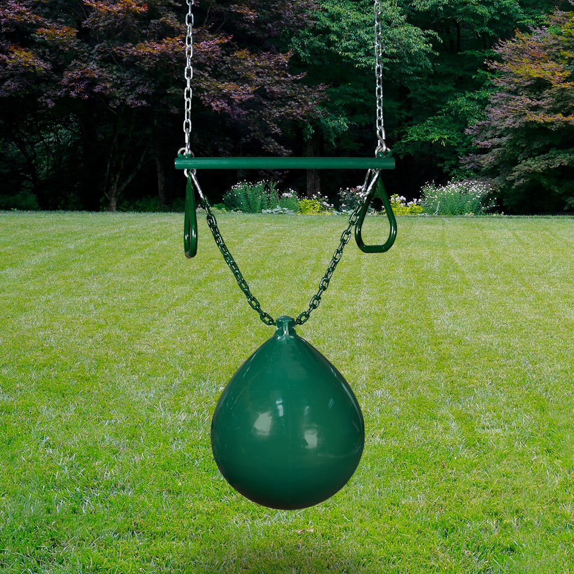 Swing-N-Slide Buoy Ball w/ Trapeze Bar (Green/Green) by Swing-N-Slide (Image #2)