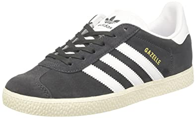 quality design 30fef 95f33 adidas Kids Gazelle Gymnastics Shoes DGH Solid GreyFTWR WhiteGold Met,
