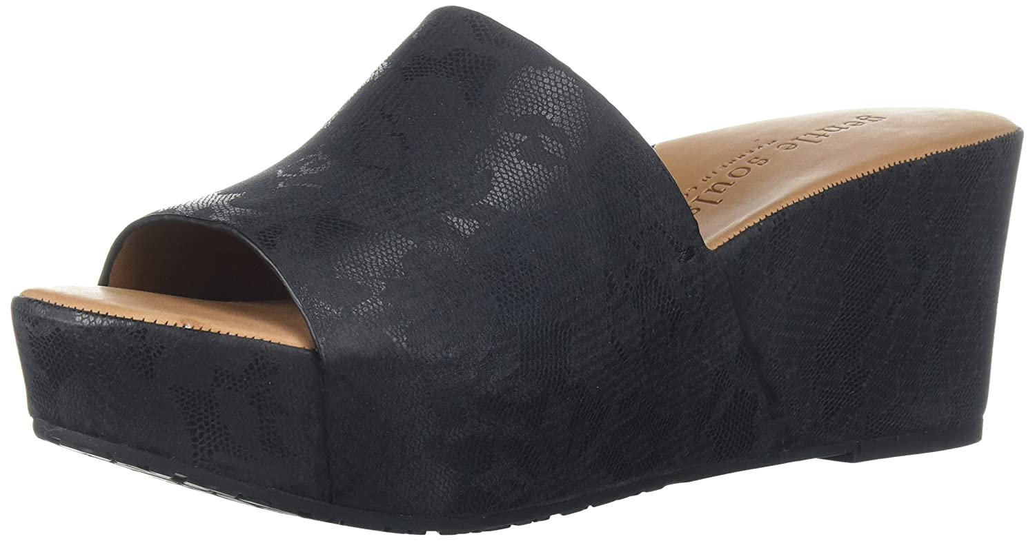 Gentle Souls by Kenneth Cole Forella Printed Leather Sandal Black