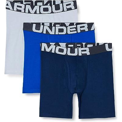 Under Armour Boxerjocks 15 Cm - Ropa Interior Elástica, 3 Unidades Hombre