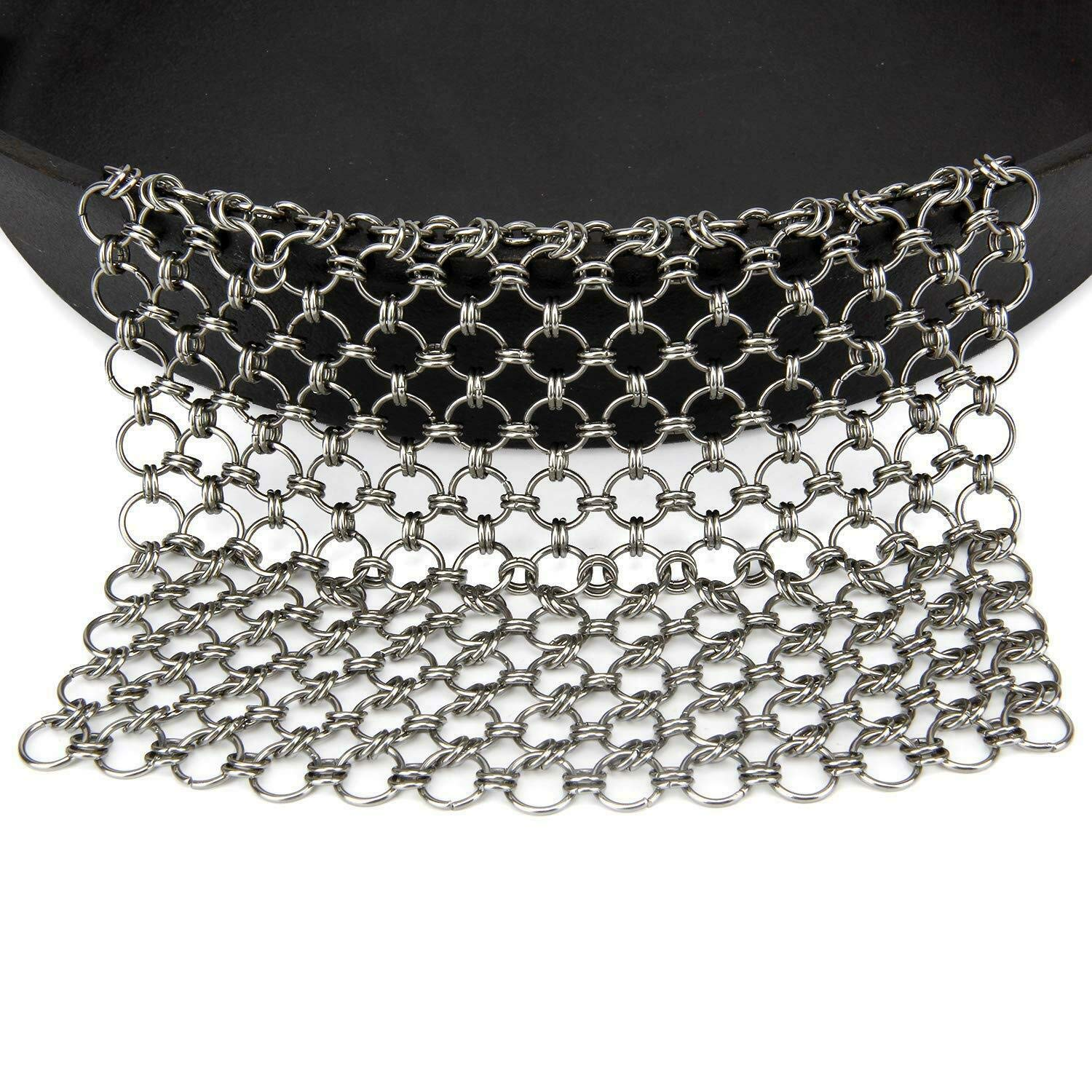 CHOee-Chen Cast Iron Cleaner, Stainless Steel Chainmail Scrubber for Cast Iron Pan Skillet Even Wok All Purpose Cleaner