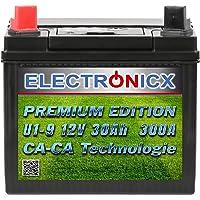 Electronicx U1 (9) 30AH 300A (EN) Green Power batterij voor grasmaaiers, tuingereedschap, startaccu, onderhoudsvrij…