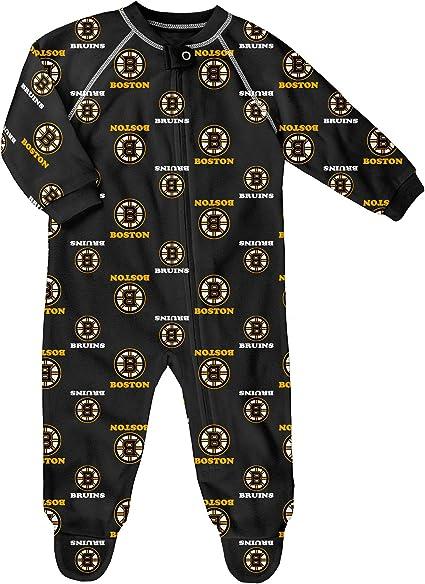 Outerstuff Boston Bruins Newborn All Over Print Raglan Sleeper