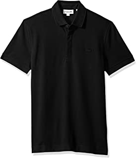 Lacoste Men s Short Sleeve Solid Stretch Pique Regular Fit Paris Polo c86e7c9744f3f