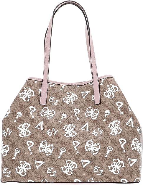 Guess Vikky Tote Bag In Brown