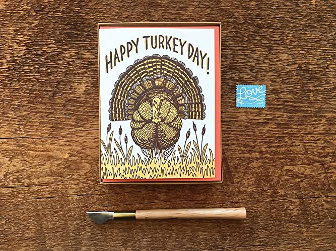 amazon com turkey day thanksgiving cards boxed set of 8