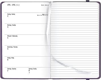 formato A6 colori pastello Trexin Agenda 2020 visualizzazione settimanale