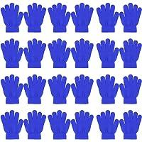 QKURT 12 Pares Guantes de Niño,Invierno Guantes Guantes Calientes Guantes de Dedos completos para Niños Niñas