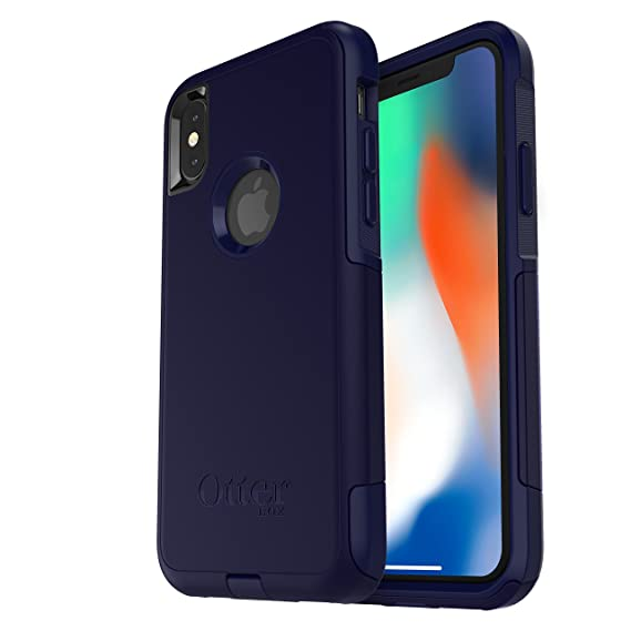 half off 40f62 c959b OtterBox COMMUTER SERIES Case for iPhone Xs & iPhone X - Frustration Free  Packaging - INDIGO WAY (MARITIME BLUE/ADMIRAL BLUE)