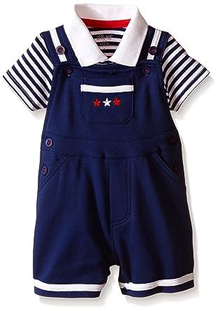 f35abb262b6 Amazon.com  Little Me Baby Boys  Patriotic Shortall Set  Clothing