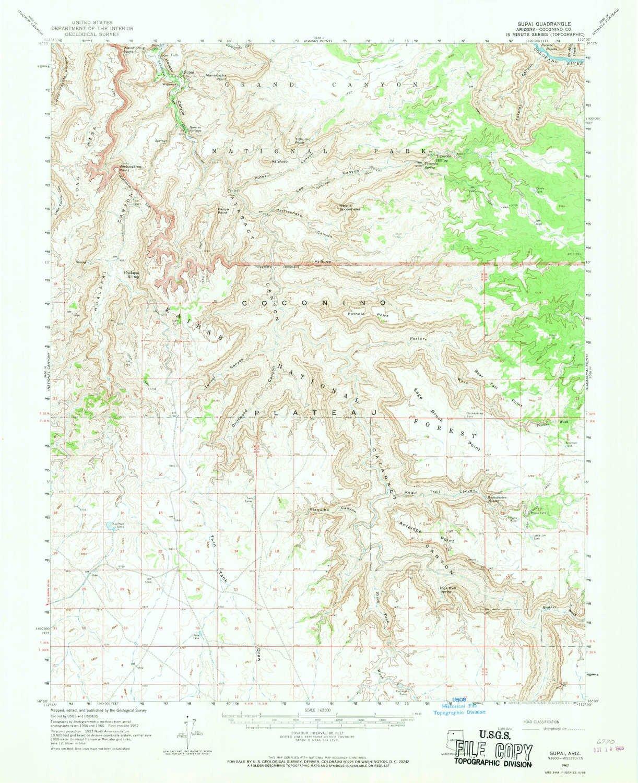 Supai Arizona Map.Amazon Com Yellowmaps Supai Az Topo Map 1 62500 Scale 15 X 15
