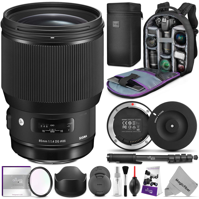 Sigma 85mm F 14 Dg Hsm Art Lens For Nikon Cameras W Ex Usb Dock Advanced Photo And Travel Bundle Camera