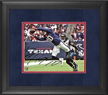 DeAndre Hopkins Houston Texans Framed Autographed 8 quot  x 10 quot  Diving  Catch Photograph - Suede e4283a6ec
