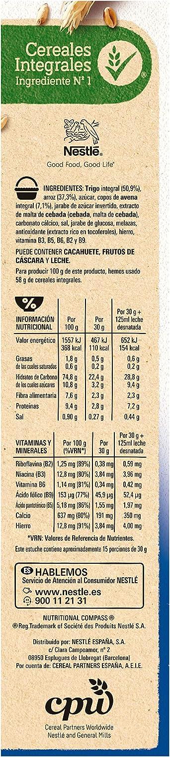 Cereales NESTLÉ Fitness Original - Copos de trigo integral, arroz y avena integral tostados - Paquete de cereales de 450g: Amazon.es: Alimentación y bebidas