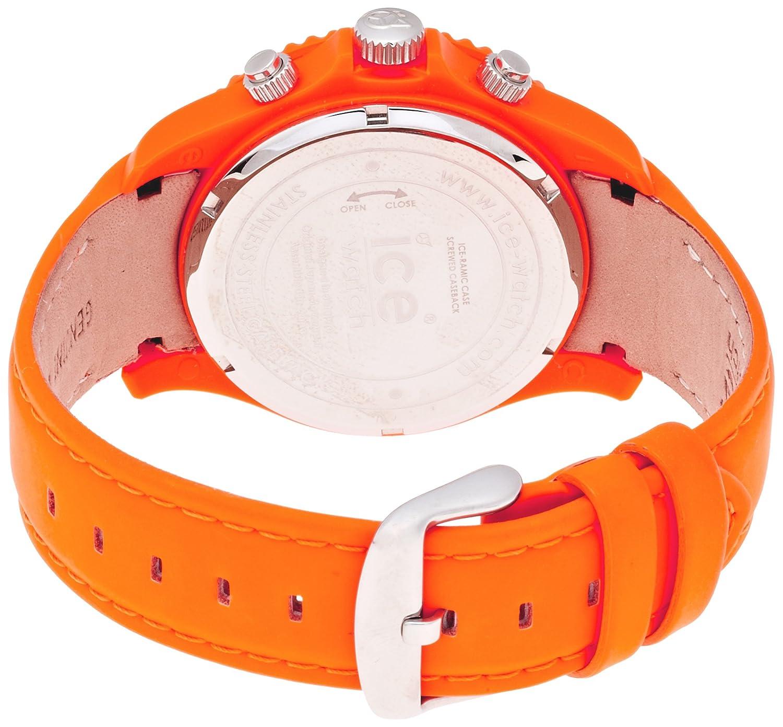 Ice-Watch – Ice-Chrono Matte – Big 48 – Fluo Orange – Leather