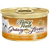 Purina Fancy Feast Gravy Wet Cat Food, Gravy Lovers Chicken Hearts & Liver Feast - (24) 3 oz. Cans