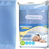 Kiddomore Breathable Airflow Rail Cover and Bumper Baby Mesh Crib Liner, Bluebell