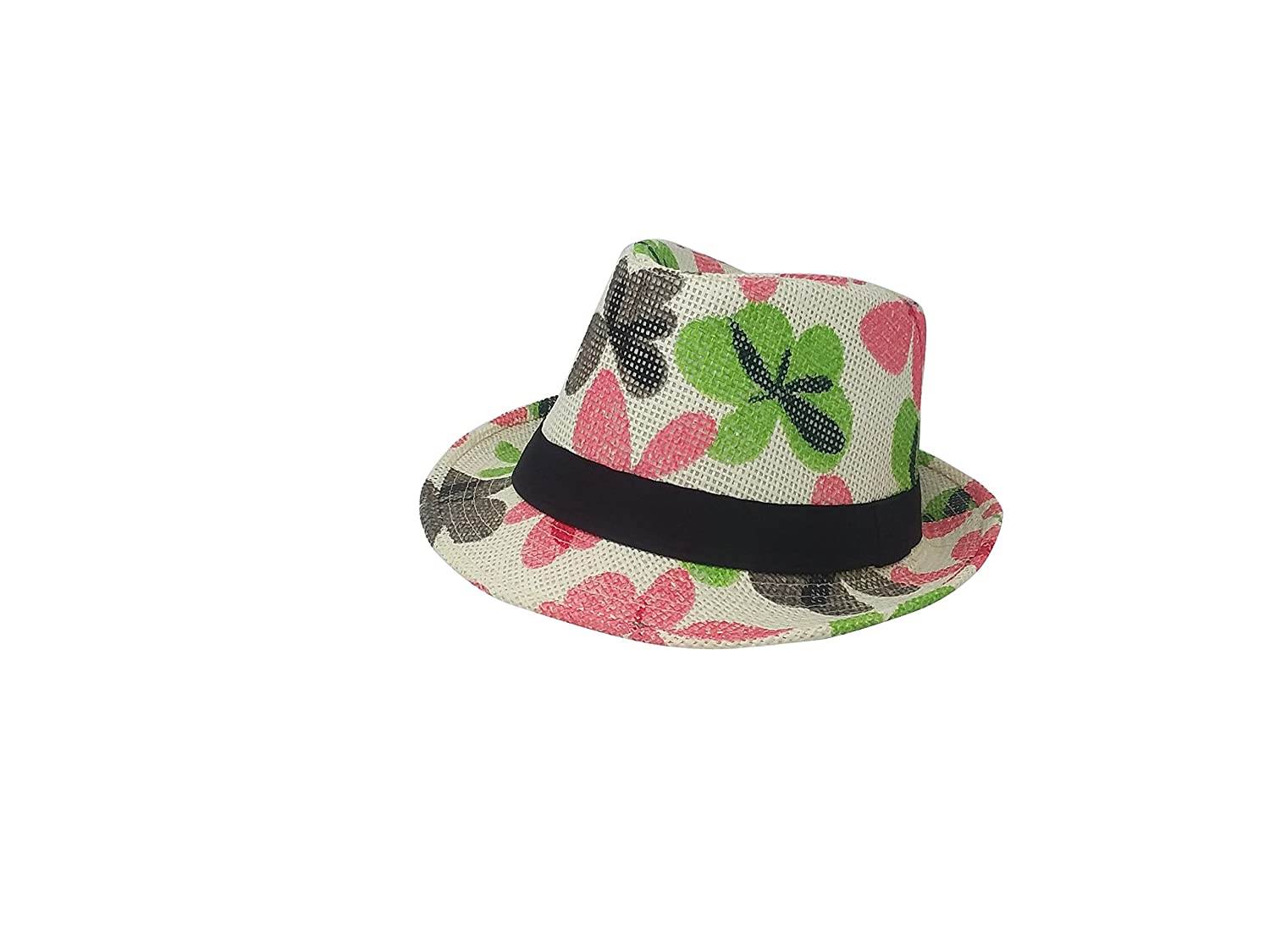 9dd9a5c65 Chachlili 12 Womans/Mens Colorful Flower Petals Fedoras Casual ...