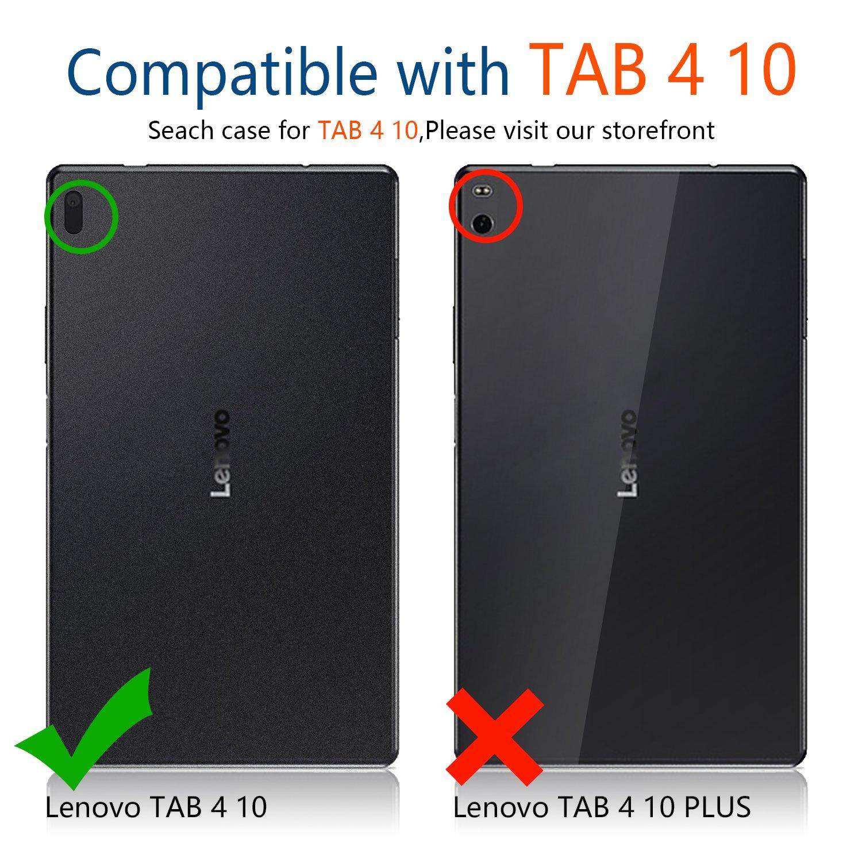 IVSO Lenovo Tab4 10 Cristal Templado Protector,[Crystal Claridad] [Resistente a las rayaduras] [No-burbuja Instalación simple] para Lenovo TAB4 10 (No para ...
