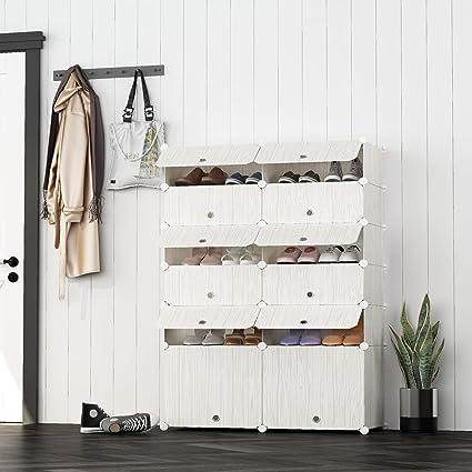 JOISCOPE MEGAFUTURE Portable Shoe Storage Organzier Tower, Modular Cabinet  Space Saving, Shoe Rack Ideal