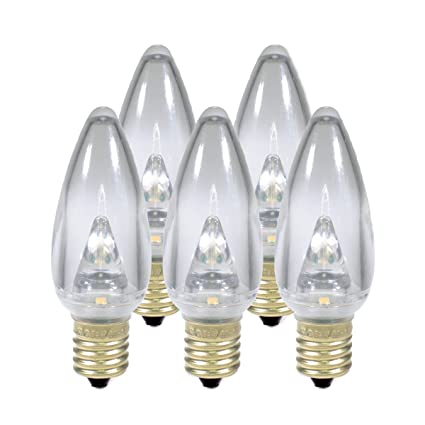 Holiday Lighting Outlet Smooth C9 Christmas Lights Sun Warm White Led Light Bulbs Holiday Decoration Warm Christmas Decor For Indoor Outdoor Use