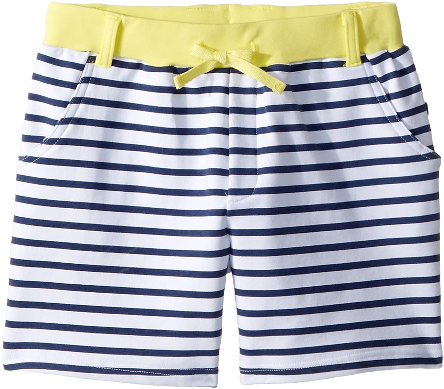 Toobydoo Womens Navy White Stripe French Terry Camp Shorts Toddler//Little Kids//Big Kids