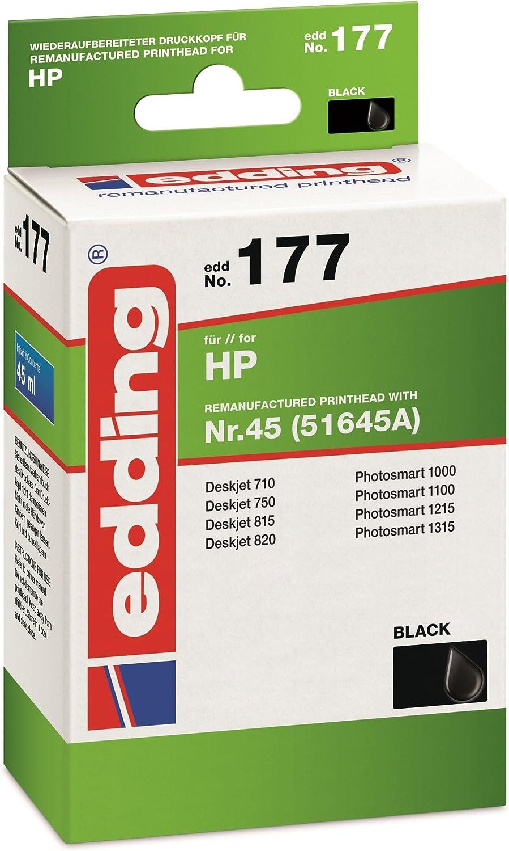 Edding 18 177 Druckerpatrone Edd 177 Ersetzt Hp Nummer 45 51645a Einzelpatrone Schwarz Bürobedarf Schreibwaren