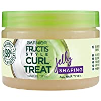 Garnier Fructis Style Curl Treat Shaping Jelly with Coconut Oil for Curly Hair,...