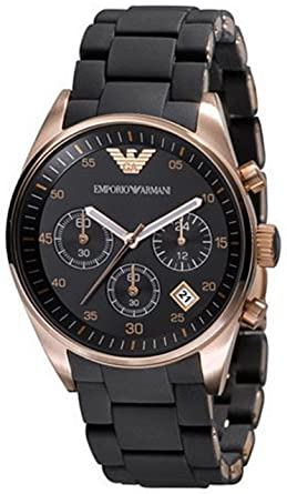 Image Unavailable. Image not available for. Color  Emporio Armani Women s  AR5906 Fashion Black Dial Watch 717bbc14f