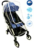 Baby Stroller Rain Cover Universal   Best for Umbrella, Lightweight, Jogger Strollers. Waterproof Weather Shield for All Protection - Snow, Dust, Wind - Transparent and Easy Fit with a Large Window