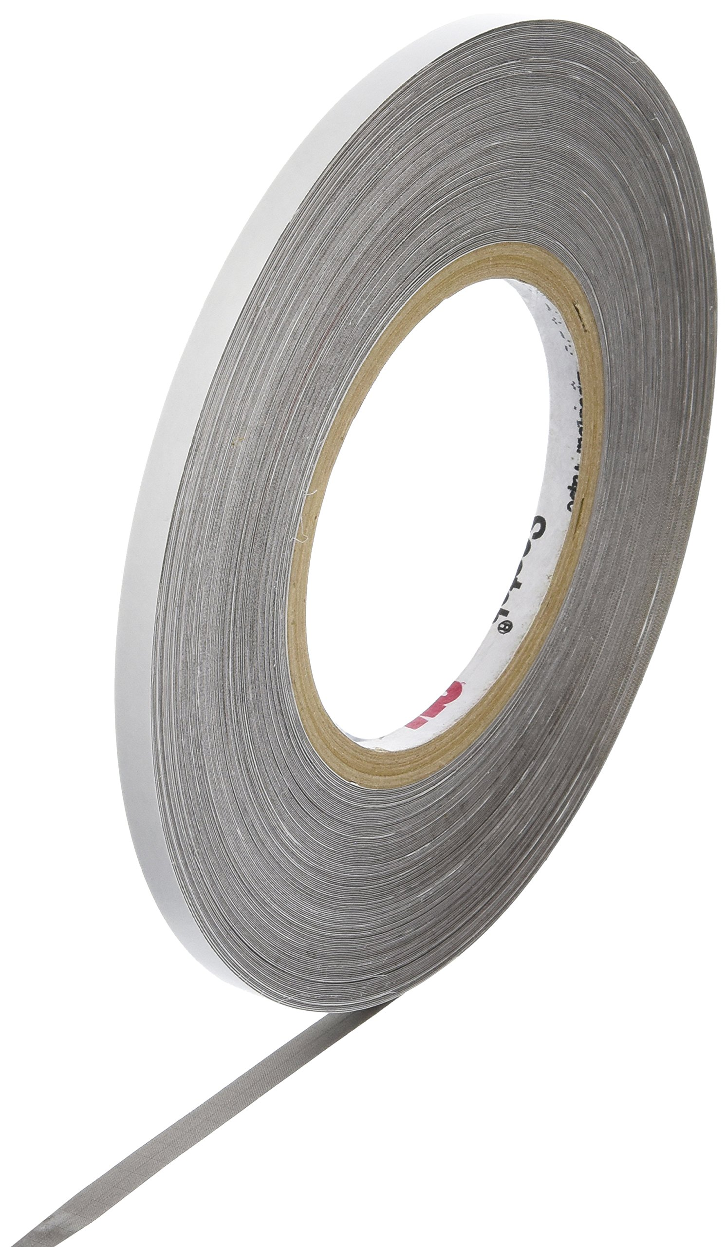 3M CN3190 0.25'' x 54.5yd Gray Nickel on Copper-Plated Polyester Fabric Tape, 54.5 yd Length, 0.25'' Width, Roll