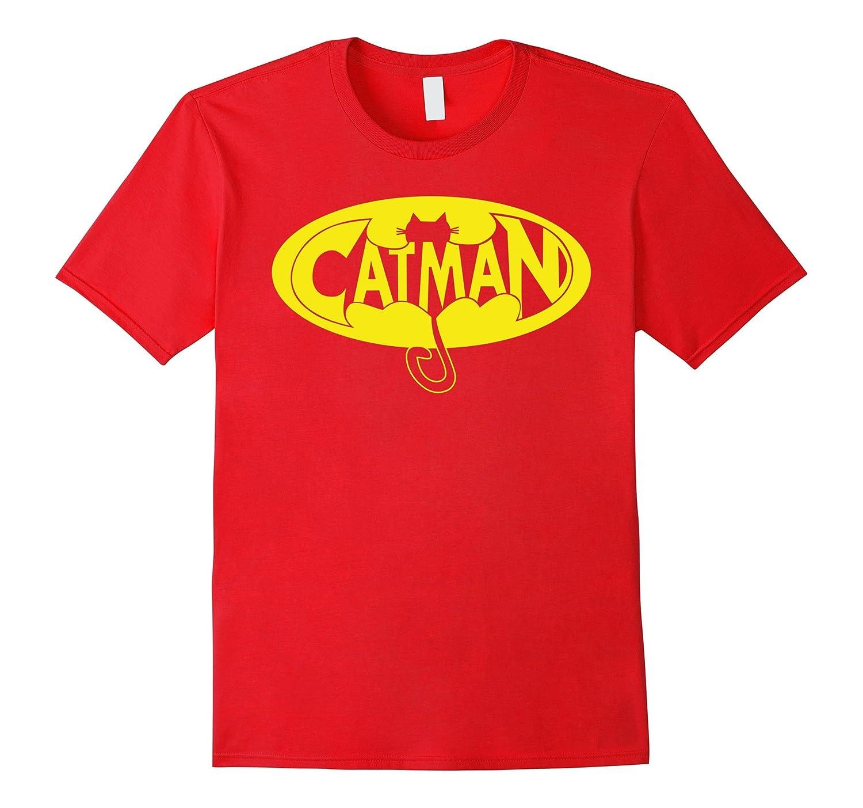 Funny Papa Dad Catman Bat Fathers Day Gift Cat T-shirt man-Art