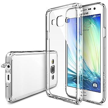Ringke Fusion Compatible con Funda Galaxy A3 Absorcion de Choque Cojín Carcasa para Galaxy A3 - Crystal View
