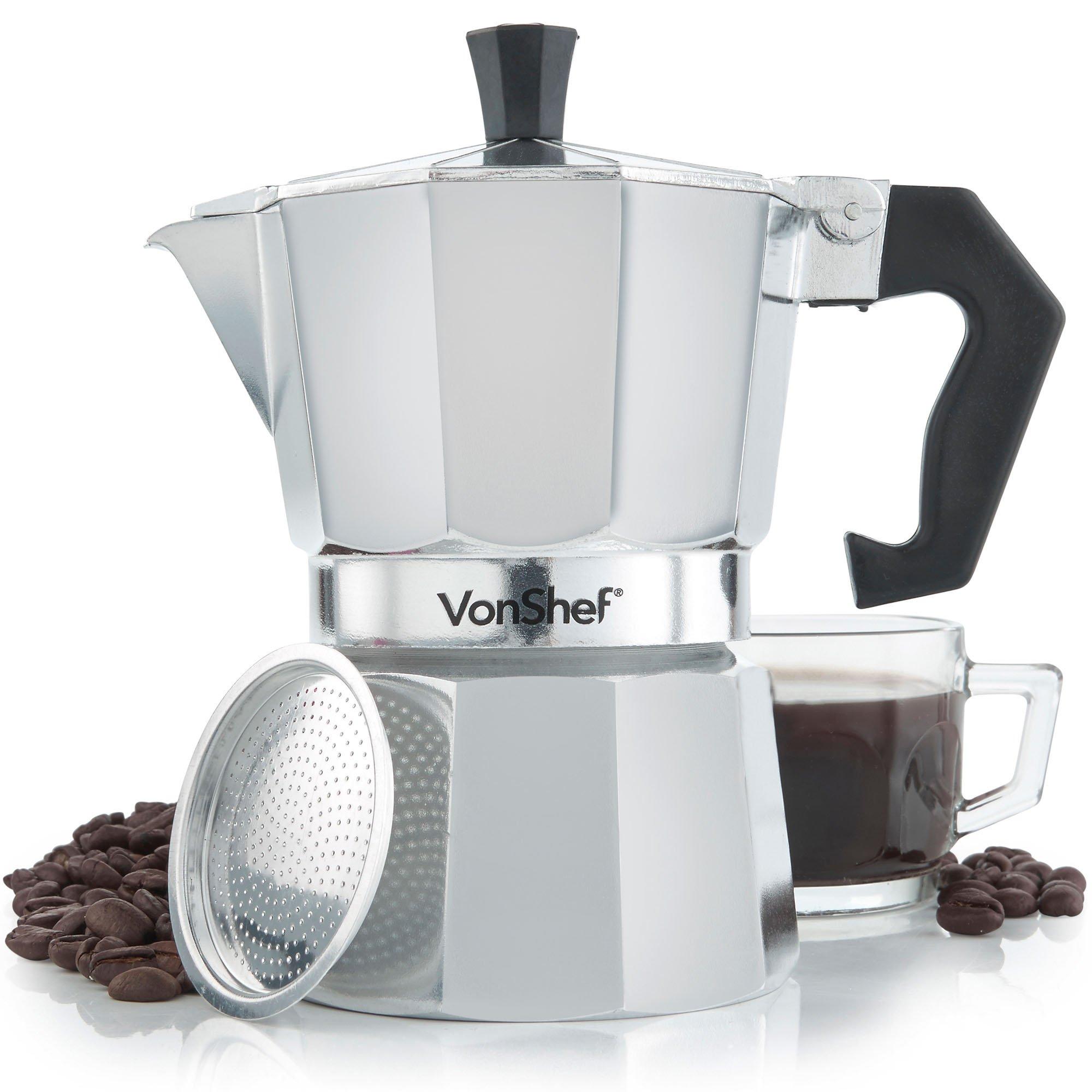 VonShef 3 Cup Italian Espresso Coffee Maker Stove Top Moka Macchinetta Product Image