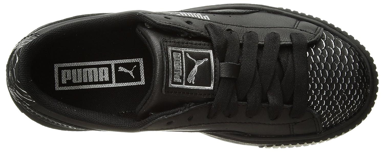 PUMA Women's Basket Platform Ocean Wn Sneaker B0752545ZD 6.5 B(M) US Puma Black-puma Silver-puma Black