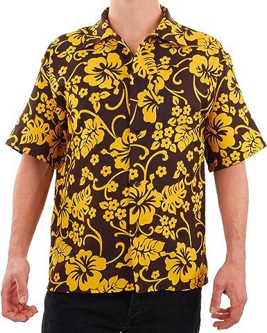Raoul Duke Las Vegas - Camiseta Hawaiana - Amarillo - Small: Amazon.es: Ropa y accesorios