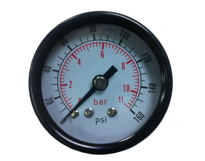 PneumaticPlus manómetro de presión de aire para compresor de aire WOG agua aceite Gas 1 - 1/2