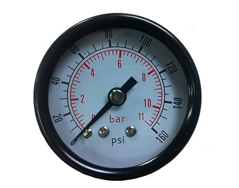 PneumaticPlus manómetro de presión de aire para compresor de aire WOG agua aceite Gas 1 –