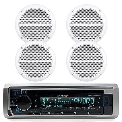 Kenwood Marine Boat Bluetooth CD MP3 Player USB iPod iPhone Input Pandora  AM/FM Receiver 4 x 6 5