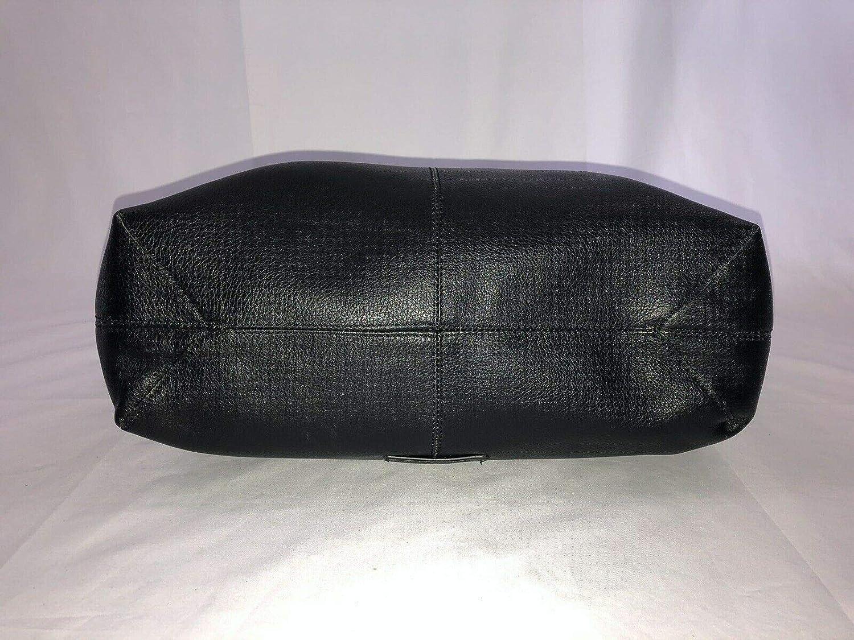 Lucky Brand Jill Hobo Handbag Purse Black Pebbled Leather Purse Bag