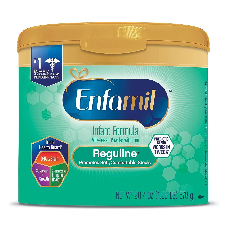 Enfamil Reguline Constipation Baby Formula Milk Powder to Promote Soft  Stools, 20 4 ounce - Omega 3,