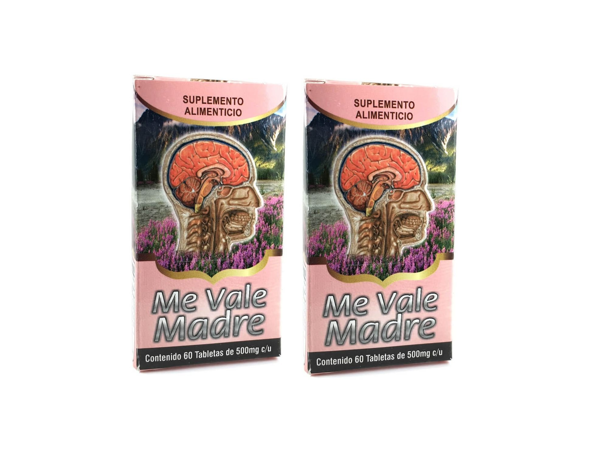 Amazon.com: 2 Cajas Me Vale Madre 60 Caps. Each Box Headache Migraine & Stress/ Dolor De Cabeza,estres: Health & Personal Care