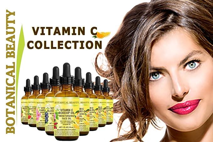 VITAMINA C Aceite de CAMELIA. Aceite facial humectante. Anti-envejecimiento, regenerador y nutritivo. 20% de vitamina C y aceite de semilla de camelia 100% ...