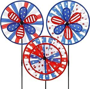 winemana Patriotic Pinwheel for Independence Day, 12