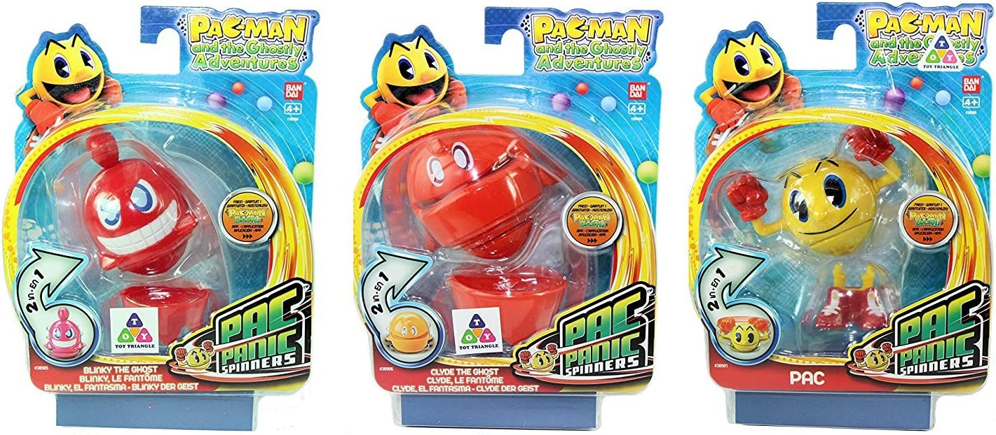 Pac Man Pacman and The Ghostly Adventures - Pac Panic Spinner 3 Pack - Blinky The Ghost, Yellow Pac & Clyde The Ghost (S2): Amazon.es: Juguetes y juegos