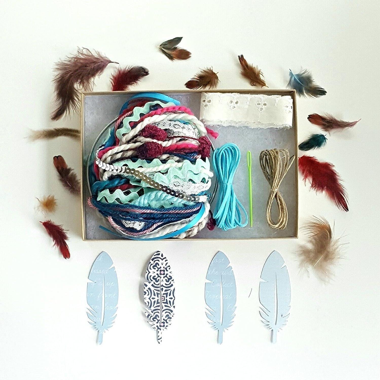 Amazoncom Diy Dream Catcher Kit Birthday Gift Aqua Blue Make