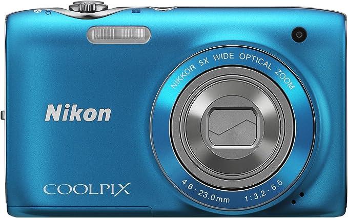 Nikon Coolpix S3100 Digitalkamera 2 7 Zoll Lagunenblau Kamera