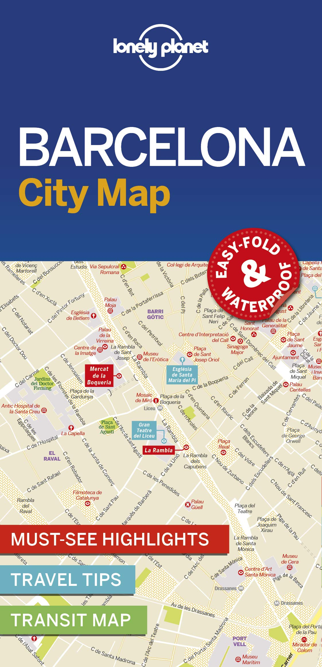 Lonely Planet Barcelona City Map Lonely Planet 9781786574107 Amazon Com Books